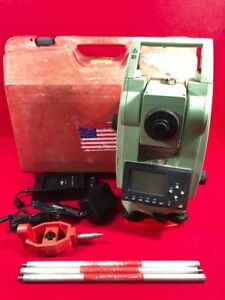 Leica Tc303 3 Surveying Transit Total Station Case Battery Charger