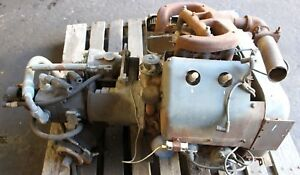 Wisconsin Industrial Vh4d Gas Engine Used Running Low Hours With Hydraulic Unit