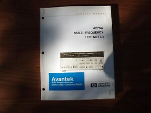Hewlett Packard 4275a Multi frequency Lcr Meter Service Manual