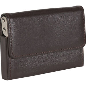 Royce Leather Horizontal Framed Card Case Brown Business Accessorie New
