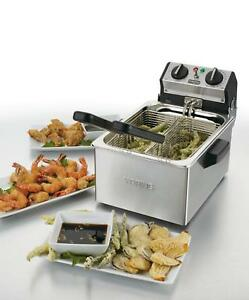 New Waring Commercial Countertop Electric Deep Fryer W Timer 120v Wdf75rc