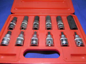 T E Tools Metric Hex Bit Set New