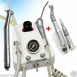 Portable Dental Dentist Turbine Unit Sn4 High Low Speed Handpiece Kit 2 4 Hole