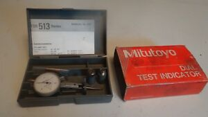 Mitutoyo 513 212 Dial Test Partial Indicator Set With Extra Tips