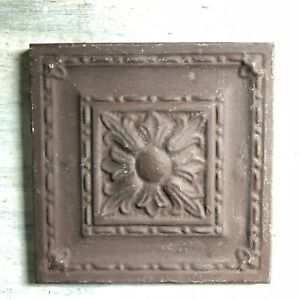 11 X 11 1890 S Wrapped Tin Ceiling Tile Reclaimed Salvage Brown 469 18