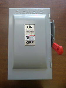 Siemens Hnf362j Heavy Duty Safety Switch Non fusible 60amp 600vac 3pole