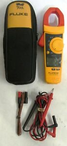 Fluke 902 True Rms Ac Current Amp Hvac Clamp Meter Multimeter Test Lead Probes