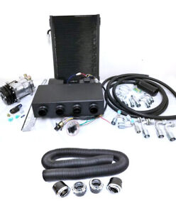 Universal Underdash Air Conditioning Ac Evaporator Kit Duct Vents Compressor