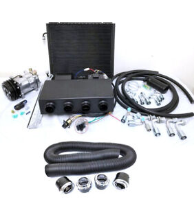 Universal Underdash Ac Air Conditioning Evaporator Kit Duct Vents Compressor