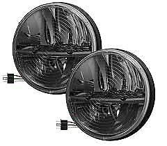 Truck Lite 27275c 7 Round Led Heated Headlight Pair Jeep Wrangler Cj Tj Jk