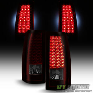 Red Smoke 1999 2002 Chevy Silverado 1500 2500 3500 Led Tail Lights Brake Lamps