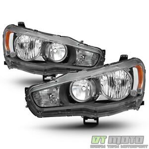 2008 2017 Mitsubishi Lancer Evo X Headlights Headlamps 08 17 Halogen Left Right