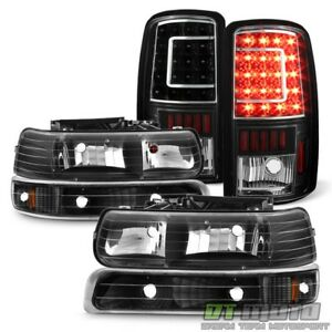 2000 2006 Chevy Suburban Tahoe Headlights c Shape Led Tail Lights bumper Lamps