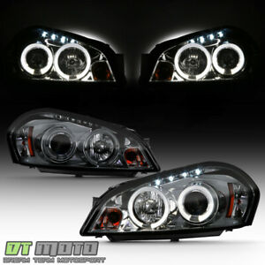 Smoked 06 16 Impala Monte Carlo Dual Halo Projector Headlights Daytime Drl Led