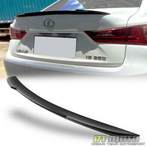 For 2014 2017 Lexus Is250 Is350 Factory Style Trunk Abs Spoiler Matte Primer Blk