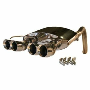 Corvette Exhaust System Slp Powerflo With Quad Round Tips 2005 2008 C6