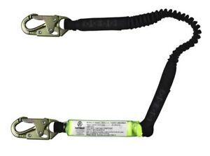 Safewaze Fs570 6 Stretch Energy Absorbing Lanyard With Double Locking Snap