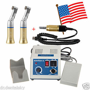 Dental Lab Marathon Micro Motor 35k Rpm 35000 Electric 2 Contra Angle Handpiece