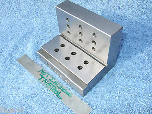 Angle Plate Step 1965 Toolmaker Machist Tapped 1 4 Ground Grind Mill Inspection