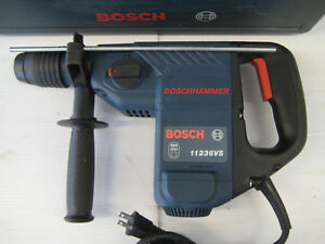 Bosch 11236vs Corded Variable Speed Sds Plus Hammerdrill chipper 7 5 Amp w case