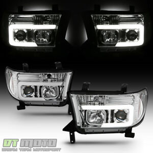For 2007 2013 Toyota Tundra 08 17 Sequoia Led Optic Tube Projector Headlights