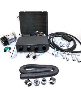 Universal Underdash Ac Air Conditioning Evaporator Kit Duct Vents Fittings