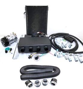 Universal Underdash Ac Air Conditioning Evaporator Kit Vents Hoses Compressor