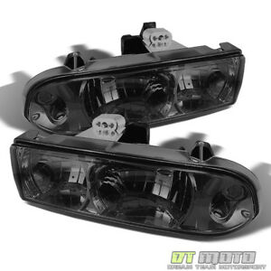Smoked Fits 1998 2004 Chevy S10 Blazer Headlights Lamps Left Right Light 98 04