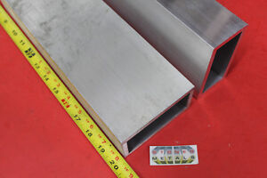 2 Pieces 2 X 4 X 1 4 Wall Aluminum Rectangle Tube 20 Long 6061 T6