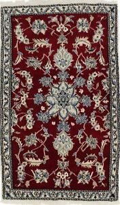 Enchanting Unique Small Red Nain Kashmar Persian Rug Oriental Area Carpet 3x5
