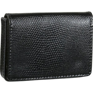 Budd Leather Business Card Case Oversized Black Business Accessorie New