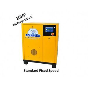10 Hp Sp Rotary Screw Air Compressor 10 Year Warranty No China Parts