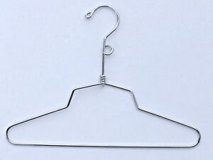 50 Chrome Hangers Child Shirt Retail Salesman Sample Security Loop 12 0815