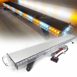 55 Inch 104w Led Amber White Warning Emergency Beacon Strobe Lightbar Tow Truck