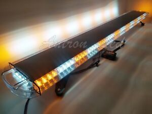 63 120w Amber White Led Warn Emergency Beacon Signal Tow Truck Strobe Light Bar