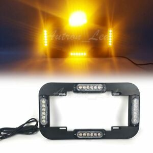 Autron 13 5 24w Led Emergency Traffic Adviser Strobe License Plate Lights Amber