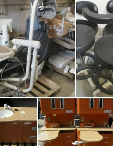 2 op Dental Lot 2 Midmark Elevance Chairs W Deliveries 6 Belmont Cabinets