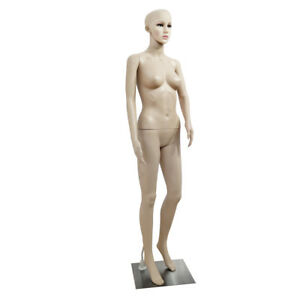 Full Body Female Mannequin W Base Plastic Display Dress Clothing Realistic Caot