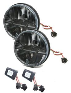 Truck Lite 27270c Jeep Jk Kit 7 Round Led Headlight Pair Anti Flicker Harness