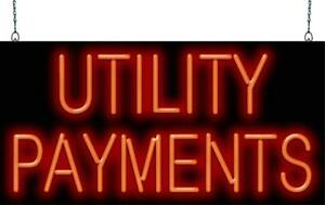 Utility Payments Neon Sign Jantec 2 Sizes Electricity Water Bills