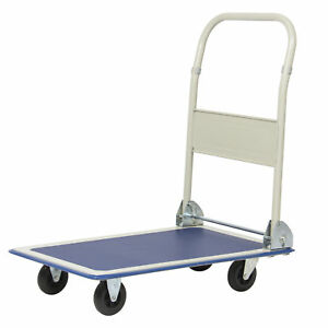 Bcp 330lbs Platform Cart Folding Dolly Foldable Warehouse Moving Push Hand Truck