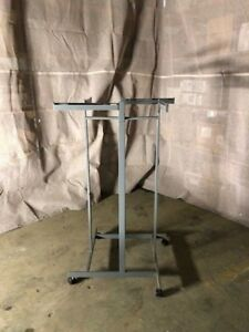 4 Way Clothing Racks Used Store Fixtures Lot 9 Commercial Quad Chrome Black Grey
