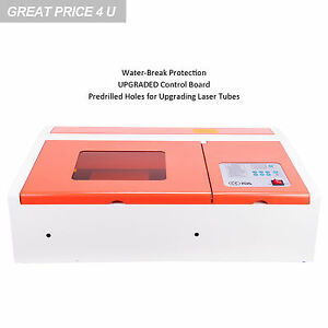 40w Co2 Laser Engraver Cutting Machine W Usb Interface Water break Protection