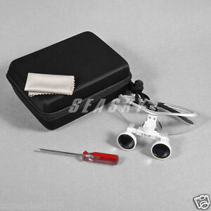 New Dental Optical Surgical Binocular 3 5x 420mm Loupes Glasses Magnifier Silver