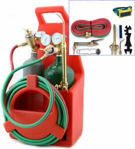 Professional Tote Oxygen Acetylene Oxy Welding Cutting Torch Kit With Tan
