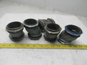 2 Offset Nipple Electrical Conduit Connector Lot Of 5