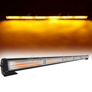 34 5 Inch Led Cob Flash Traffic Advisor Emergency Warning Amber Strobe Lightbar