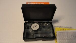 New Mitutoyo 513 443 10a Dial Test Indicator 0001 White Face Dial