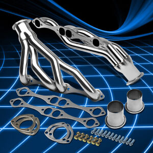 For Chevy Small Block 265 267 301 305 307 350 V8 S Steel Header Manifold Exhaust
