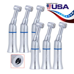 Us 6kits Joy Nsk Style Dental Low Speed Contra Angle Handpiece Push Button Chuck